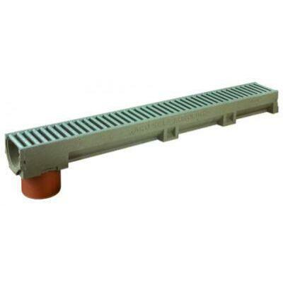 SELF EuroLine folyóka horganyzott acél ráccsal, DN 110 függ.kiv.1m