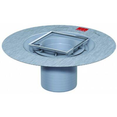 PÖF  felsôrész,  Cr-Ni  rácskerettel  150x150  mm  rácsokhoz szigetelô  mandzsettával 8–135  mm magas szögletes