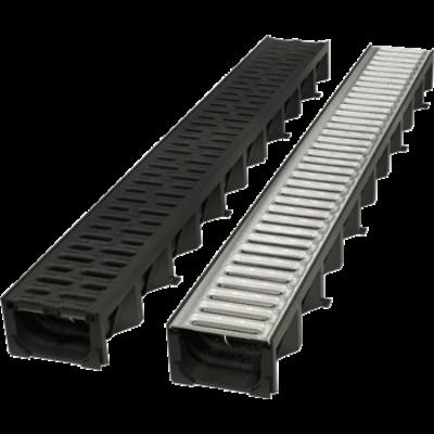 HEXALINE 2.0 folyóka fekete műanyag ráccsal, Microgrip felülettel, 1,0 m