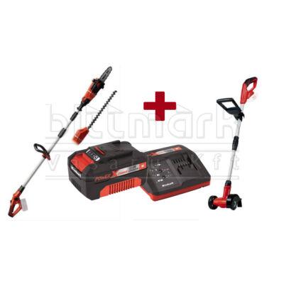 Einhell PXC szett8 GE-HC 18 LI Solo + GE-CC 18 Li - Solo + 3 Ah Starter Kit