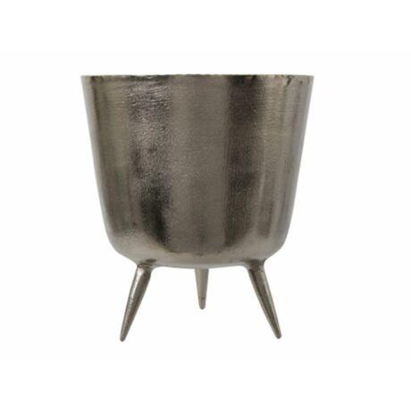 Kaspó lábbal aluminium 22.5x25cm ezüst @