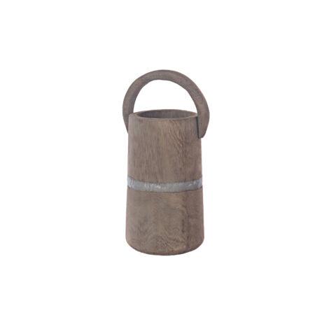 Dekor vödör fából 5x19,5x49cm barna