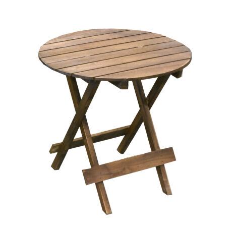 Kisasztal kerek fa 63x61cm natúr