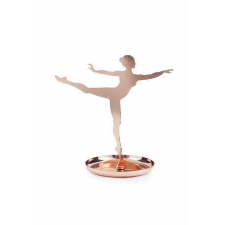 Ékszertartó állvány, ballerina, réz