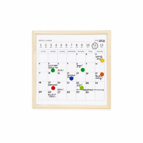Törölhető tábla naptárral, mágneses, kicsi