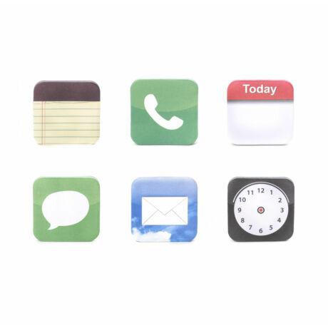 Applikációs ikonok post it