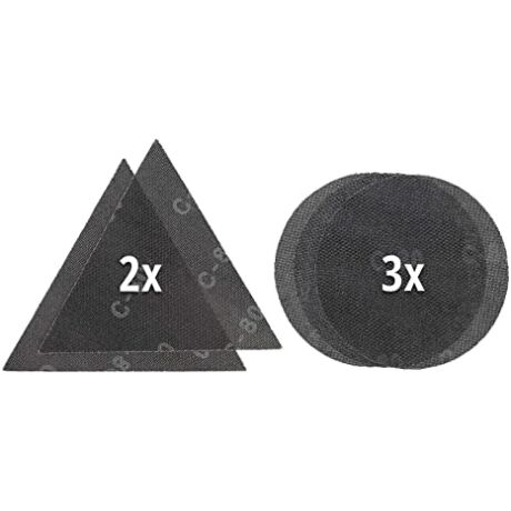 Einhell-225mm-csiszolórács,-5-részes-(2*P80,1*120P-és-2-DB-P80-háromszög)-KWB-by-Einhell-tartozék-(49491005)