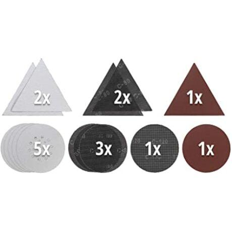 Einhell-225/287mm-csiszoló-korong,rács-és-háromszög,-15-db- (P80,-P120,-G80)-KWB-by-Einhell-tartozék-(49491065)
