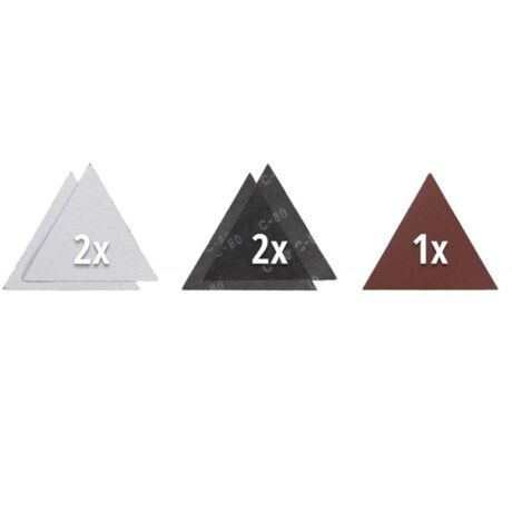 Einhell 5 db tépőzáras  háromszög csiszolókorong 287 mm KWB by Einhell tartozék (49491075)