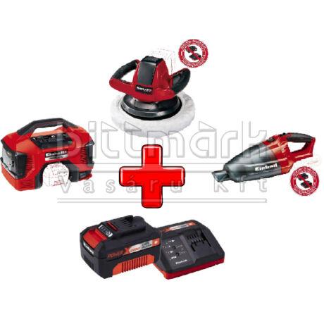Einhell PXC szett19 TE-AC 18/11 LI S+ CE-CB 18/254 LI S + TE-VC 18 LI S + 3Ah Starter kit (pxc19)