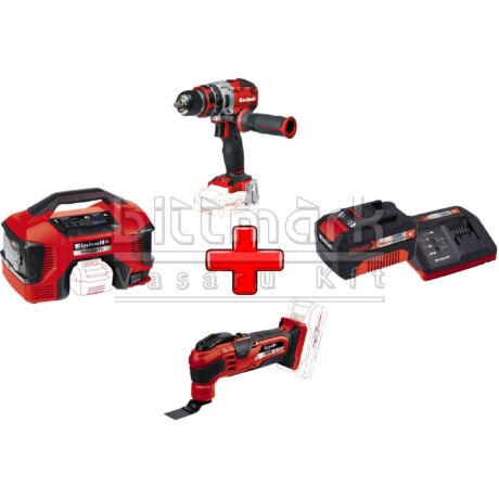 Einhell PXC szett26 TE-AC 18/11 LI S + TE-MG 18 LI S + TE-CD 18 LI-I Brushless s +3Ah Starter kit (pxc26)