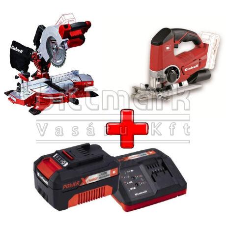 Einhell PXC szett16 TE-MS 18/210 Li S+ TE-JS 18 Li S + 3Ah Starter kit (pxc16)