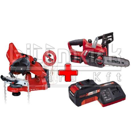 Einhell PXC szett24 GE-LC 18 LI KIT + GE-CS 18 LI S + 3Ah Starter Kit (pxc24)