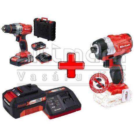 Einhell PXC szett25 TE-CI 18 LI S Brushless + TE-CD 18/2 LI KIT + 3Ah Starter Kit (pxc25)