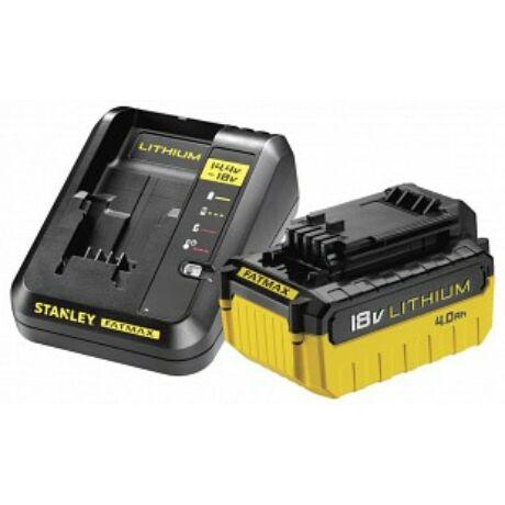 Stanley 1db 4Ah Akkumulátor  és töltő (FMC694M1)