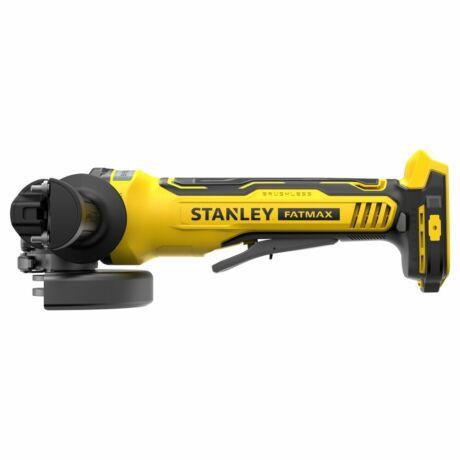 Stanley FatMax V20 akkumulátoros sarokcsiszoló, 125 mm, KEFE NÉLKÜLI (SFMCG700B)