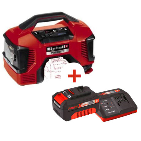 EINHELL TE-AC 18/11 LI PRESSITO SET ( 3Ah starter kittel) akkus kompresszor akkuval