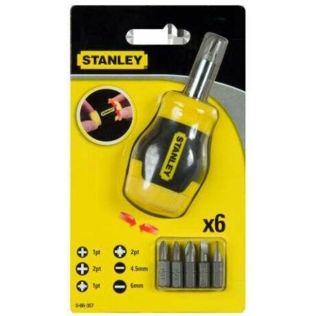 STANLEY 0-66-357 Multibit marokcsavarhúzó + bitek
